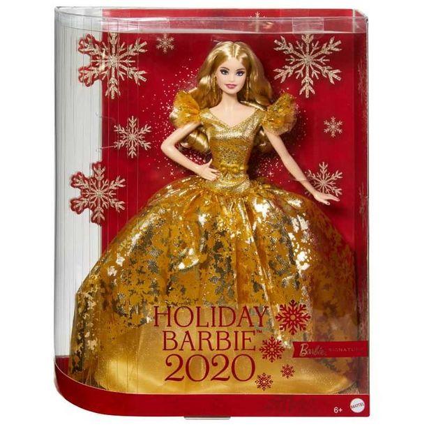 Poupée Barbie Joyeux Noël 2020 offre à 34,98€