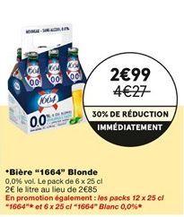 """Bière """"1664"""" Blonde offre à 2,99€"""