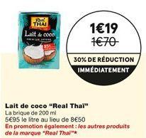 Lait de coco offre à 1,19€