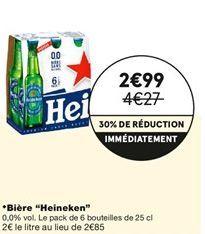 "Bière ""Heineken"" offre à 2,99€"