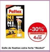 """Colle de fixation extra forte """"Henkel"""" offre à 4,38€"""