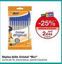 """Stylos-bille Cristan """"Bic"""" offre à 2,44€"""