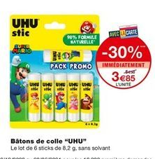 """Bâtons de colle """"UHU"""" offre à 3,85€"""