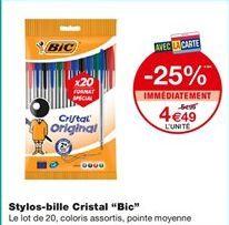 """Stylos-bille Cristal """"Bic"""" offre à 4,49€"""