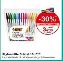 """Stylos-bille Cristal """"Bic"""" offre à 3,36€"""