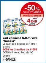 Lait vitaminé U.H.T offre à 5,99€