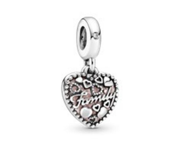 Charm Pendant Cœur L'Amour est le Ciment de la Famille offre à 49€