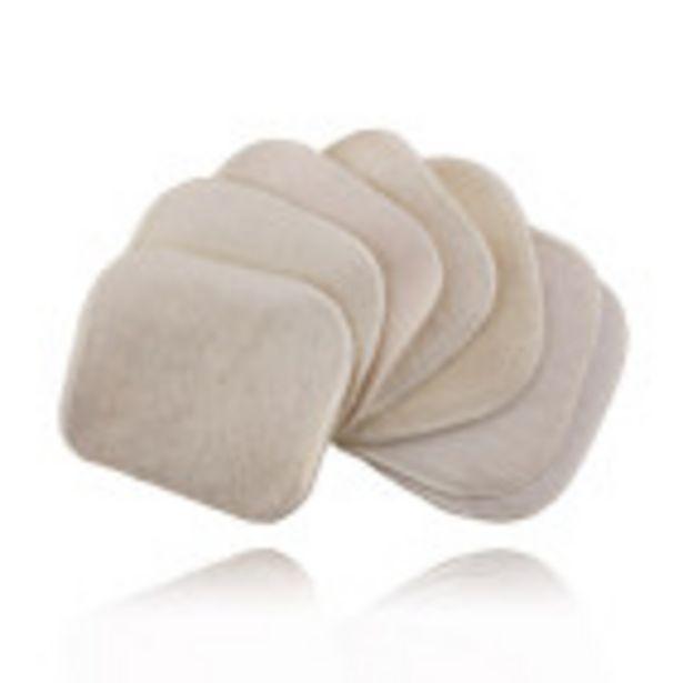 7 carrés lavables en coton BIO offre à 4,9€