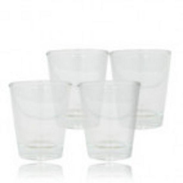 Lot de 4 verres à bougie Chupito - petit modèle offre à 3,5€