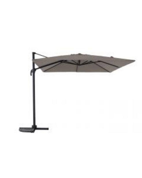 Parasol déporté Rome anthracite/taupe L.300 x l.300 cm offre à 299,95€