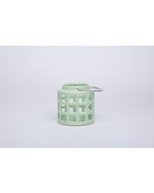 Lanterne céramique vert clair offre à 8€