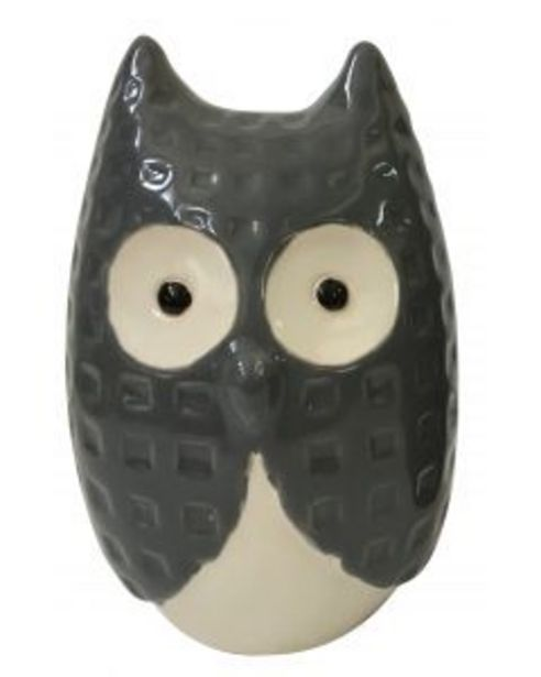 Hibou céramique gris offre à 7€