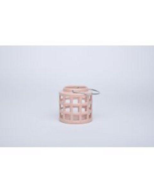 Lanterne céramique rose offre à 8€