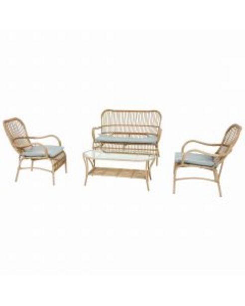 Jardiland - Salon Crusoé 4 places L. 121,5 x l. 80 x H. 86,5 cm offre à 789,95€
