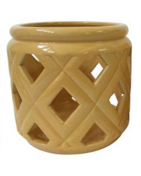 Lanterne céramique jaune offre à 11€