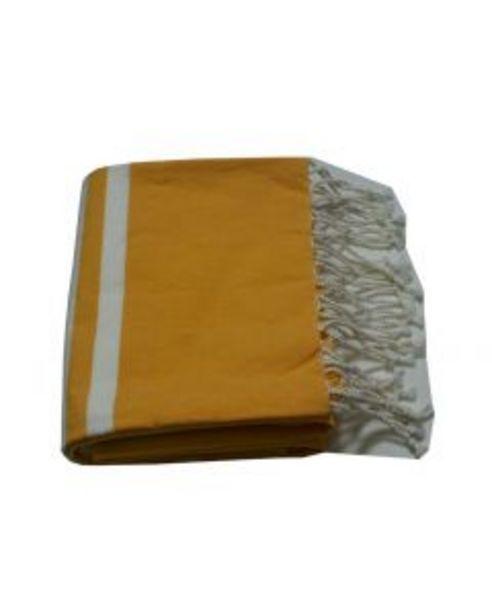 Fouta jaune - L.100 x l.200 cm offre à 15€
