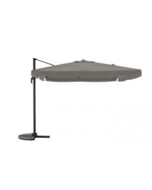 Parasol déporté Florence anthracite/taupe L.300 x l.300 cm offre à 299,95€