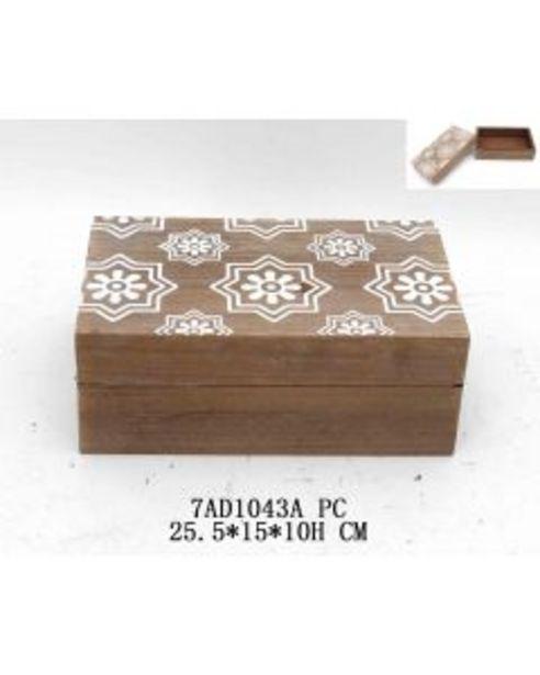 Boite en bois 26x15 cm offre à 11€