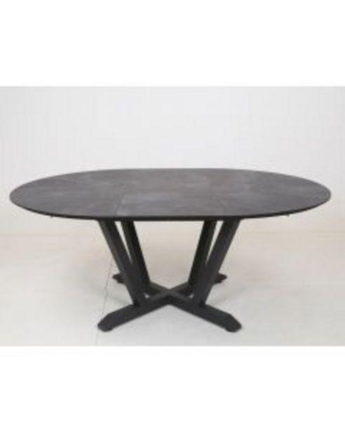 Table ronde extensible anthracite L.135/185 x l.135 x H.75 cm offre à 1€