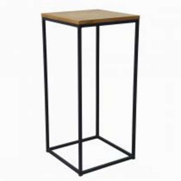 Trio de sellettes IVY en bois naturel et métal noir offre à 149€