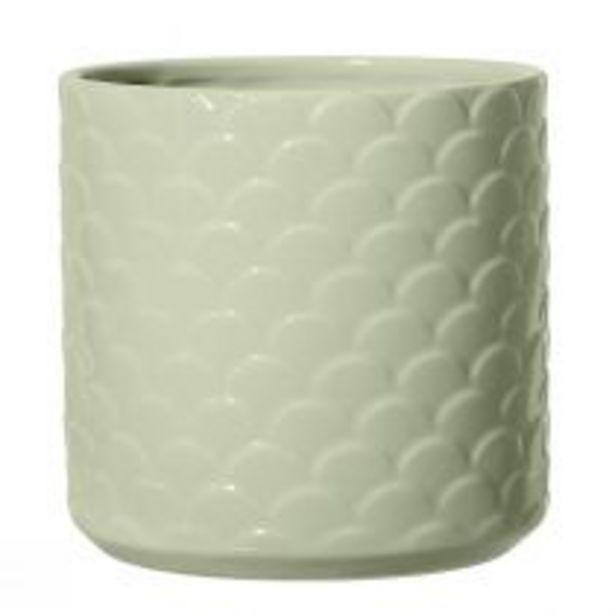 Objet de décoration FLOWERPOT pot en céramique vert offre à 21,9€