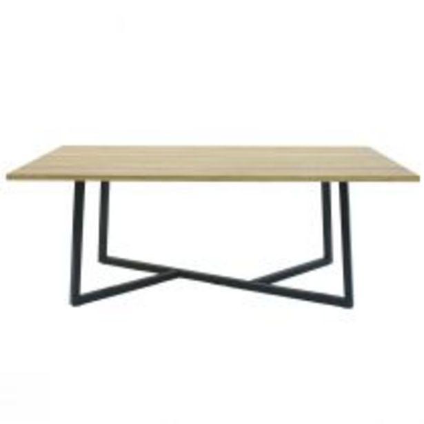 Table basse HAMILTON en bois naturel et métal noir offre à 125€