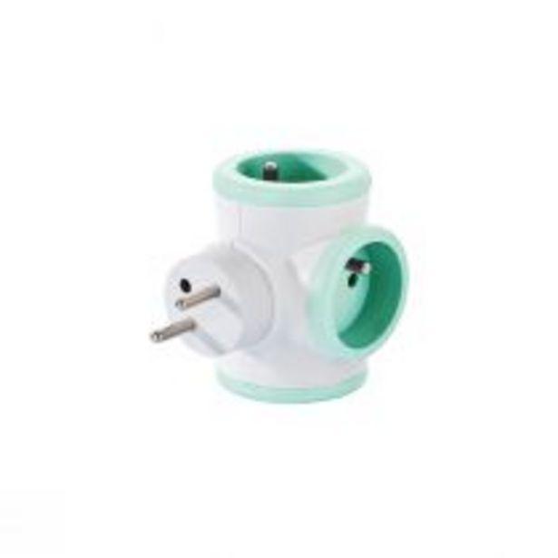 Multiprise rotative (3x16A) verte pastel offre à 6,9€
