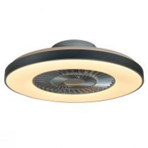 Ventilateur lumineux YEEZ en méthacrylate et polycarbonate gris offre à 149€
