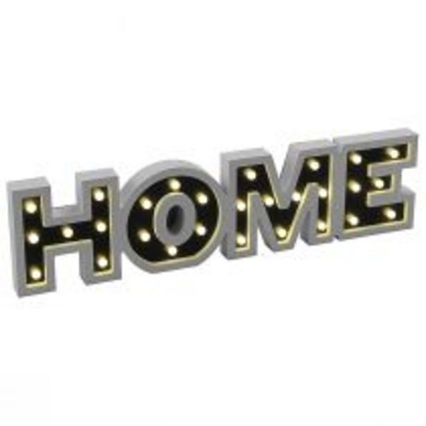 Objet lumineux LED HOME en PVC blanc offre à 32,4€