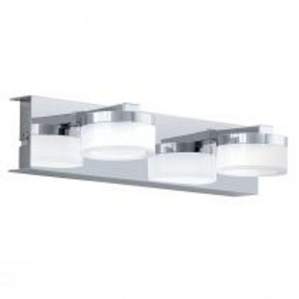 Applique murale salle de bain 2 spots Led ROMENDO argentée en métal offre à 93,9€