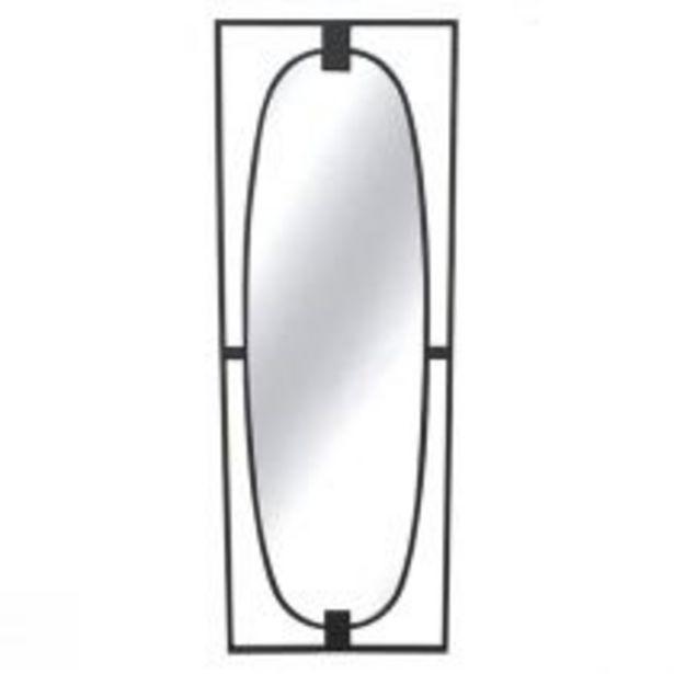 Miroir ovale AROUND (H120cm) en métal noir mat et verre offre à 99,9€
