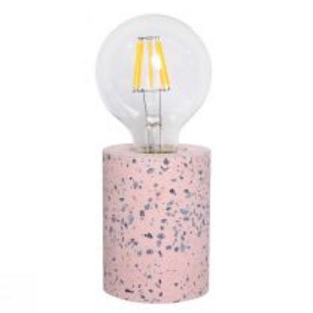 Pied de lampe SPLOTCHY en terrazzo rose offre à 19,9€