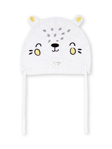 Bonnet blanc en maille motif léopard offre à 5€