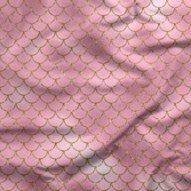 Tissu jersey lourd recyclé pour maillot de bain rose Sirènes - La Panda Love Fabrics offre à 25€
