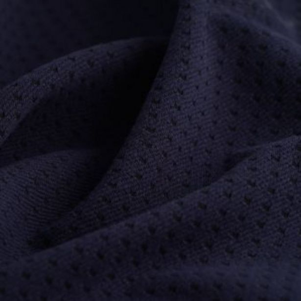 Tissu maille carrés uni bleu marine offre à 16,99€