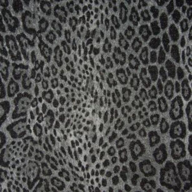 Maille peau de léopard brillante gris foncé offre à 11,99€