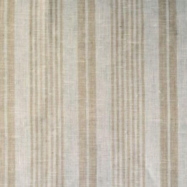 Toile torchon lin raye blanc ecru offre à 9,99€