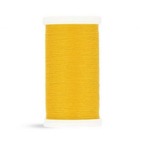Bobine fil 100 m 100% polyester   jaune foncé offre à 2,29€