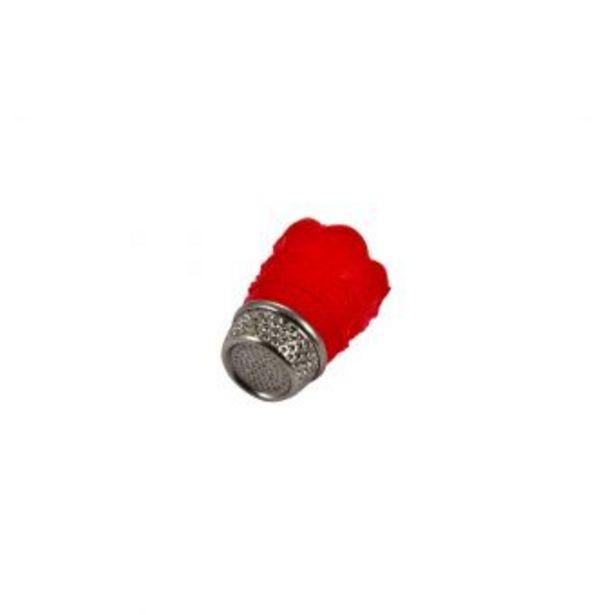 Dé souple silicone antidérapant rouge taille M offre à 9,49€