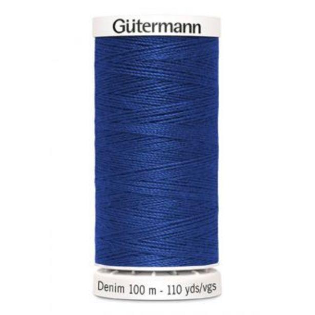 Fil à coudre Denim Gütermann 100 m bleu roi offre à 2,95€
