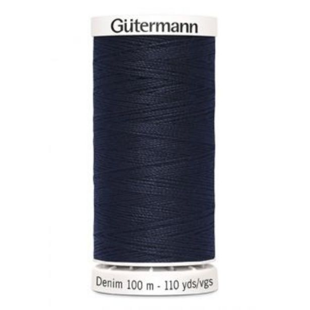 Fil à coudre Denim Gütermann 100 m bleu marine offre à 2,95€