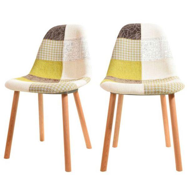 Chaise Arctik Patchwork verte (lot de 2) offre à 195€