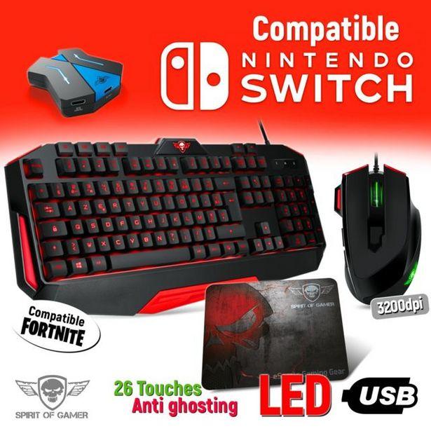 Pack clavier, souris et tapis Pro MK3 pour Nintendo Switch - Convertisseur(...) offre à 69,99€