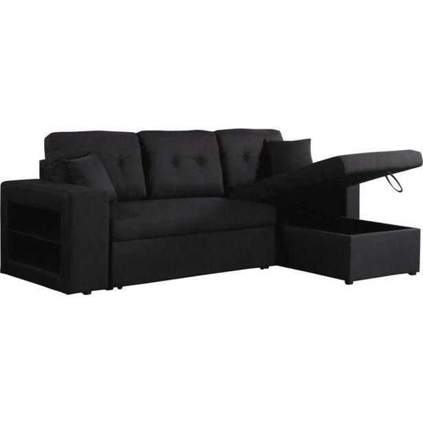 Canapé d'angle convertible  Axel  - Noir offre à 507€