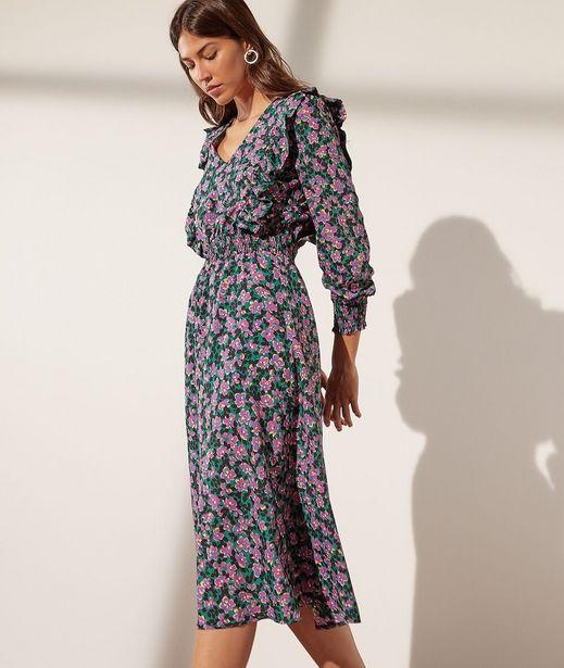 JUNE Robe taille smockée imprimé fleuri offre à 41,99€