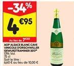 AOP vin blanc cave vinicole offre à 4,95€