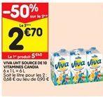 Viva uht source de 10 vitamines candia offre à 5,4€