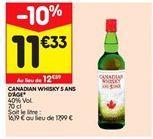 Canadian whisky 5 ans d'age offre à 11,33€