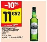 Scotch whisky William Lawson's offre à 11,52€
