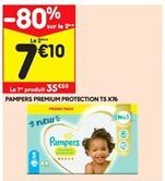 Pampers premium protection T5 X76 offre à 35,5€
